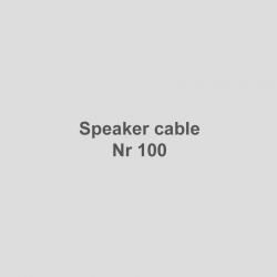 Speaker cable Nr 100