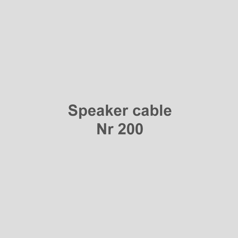 Speaker cable Nr 200